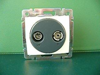 Valena TV/R betét csillagponti 1,5 dB (774432 vagy krém:774332)