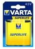 Varta Superlife 4,5V lapos elem