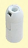 Lámpafoglalat E14 fehér, sima