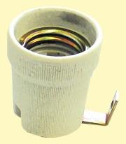 Lámpafoglalat E27 porcelán, lemezes